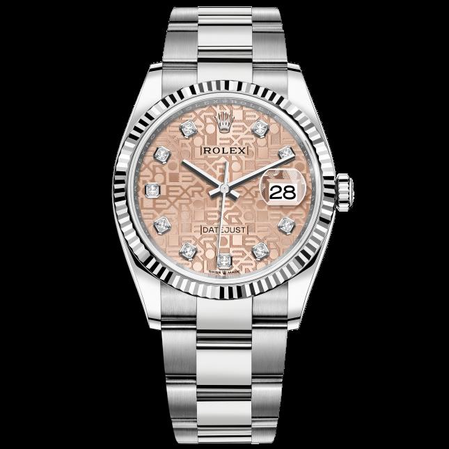 Rolex Datejust 36 126234 Mặt Số Vi Tính Hồng Dây Đeo Oyster