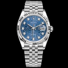 Rolex Datejust 36 126234 Mặt Số Vi Tính Xanh