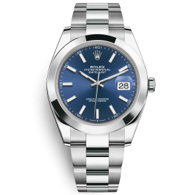 Rolex Datejust 41 126300 Mặt Số Xanh Dây Đeo Oyster