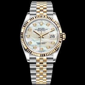 Rolex Datejust 36 126233 Mặt Số Vỏ Trai Trắng