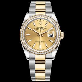 Rolex Datejust 36 126283RBR Mặt Số Vàng Champagne Dây Đeo Oyster