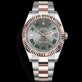 Rolex Datejust 41 126331 Mặt Số Xám Cọc Số La Mã Dây Đeo Oyster