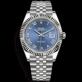 Rolex Datejust 41 126334 Mặt Số Xanh Cọc Số La Mã