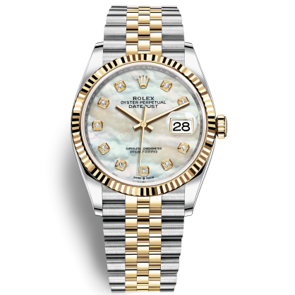 Đồng Hồ Rolex Datejust 36 126233 Mặt Số Vỏ Trai Trắng