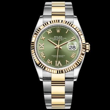Rolex Datejust 36 126233 Mặt Số Xanh Lá Cọc Số La Mã