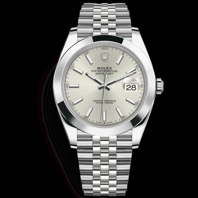 Rolex Datejust 41 126300 Mặt Số Bạc