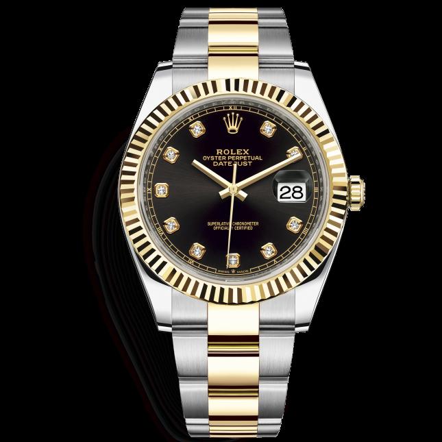 Rolex Datejust 41 126333 Mặt Số Đen Nạm Kim Cương Dây Đeo Oyster