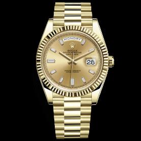 Rolex Day-Date 40 228238 Mặt Số Vàng Champagne Nạm Kim Cương