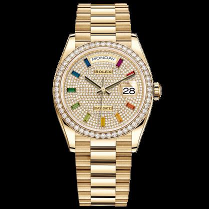 Rolex Day-Date 36 128348RBR Mặt Số Đính Kim Cương