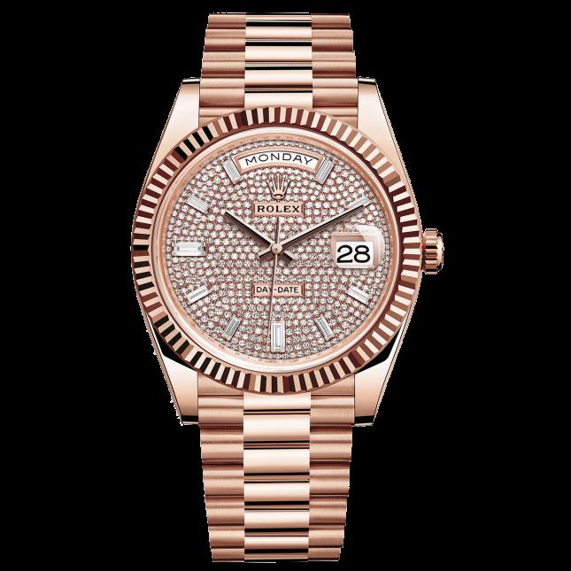 Rolex Day-Date 228235 Dial Full Diamonds