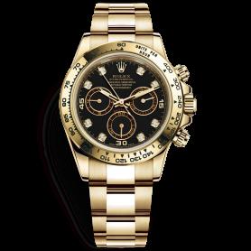 Rolex Cosmograph Daytona 116508 Mặt Số Đen Nạm Kim Cương