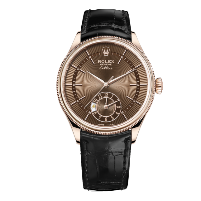 Rolex Cellini Dual Time 39mm 50525 Brown