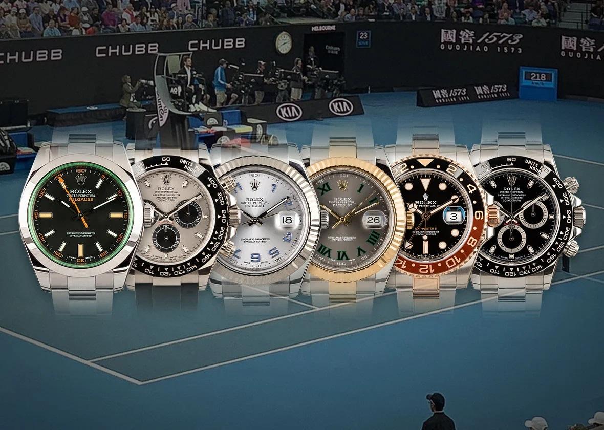Điểm mặt những mẫu đồng hồ Rolex đồng hành cùng các ngôi sao quần vợt hàng đầu thế giới