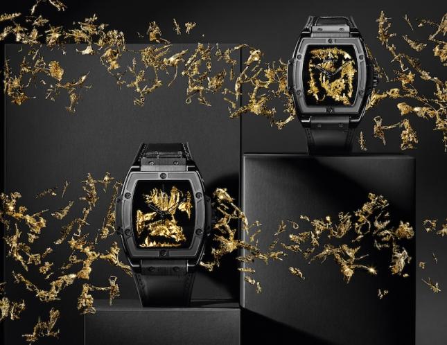 Hublot Spirit of Big Bang Gold Crystal - Tuyệt phẩm mới được trang trí tinh thể vàng hiếm trên mặt số