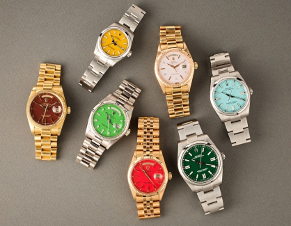 Khám phá bộ sắc màu mặt số phong phú của dòng đồng hồ Rolex Oyster Perpetual