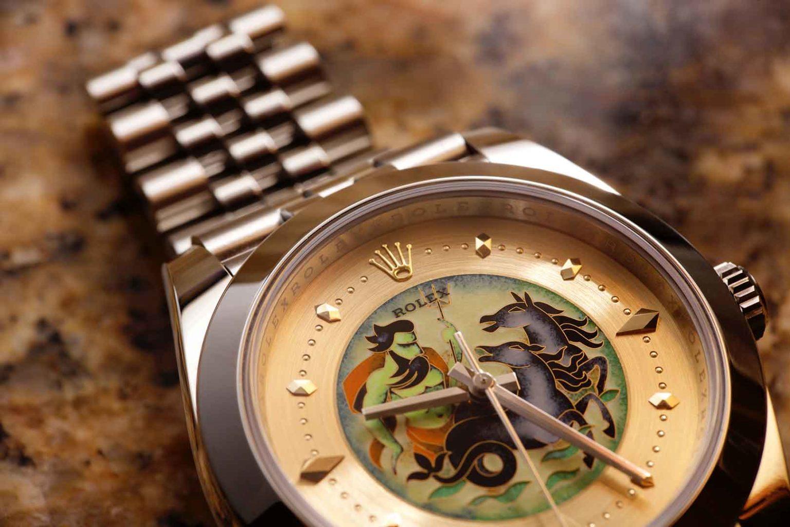 Đắm chìm trong nghệ thuật tráng men đỉnh cao trên chiếc đồng hồ Rolex đặc biệt