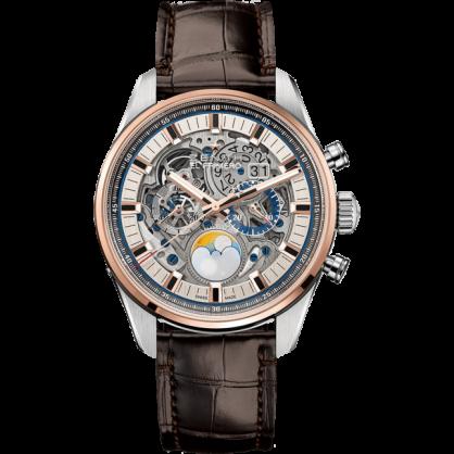 Grande Date Full Open - Đồng hồ dây đeo cá sấu sang chảnh bậc nhất của Zenith