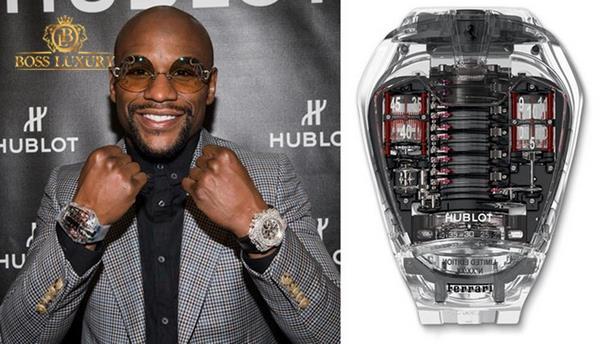 Ngắm bộ sưu tập đồng hồ Hublot nam của tay đấm triệu đô Floyd Mayweather