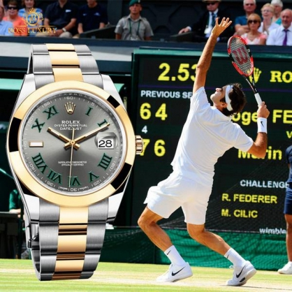 Những chiếc đồng hồ Rolex SWISS made của tay vợt Roger Federer