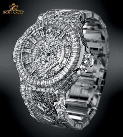 Cận cảnh những mẫu đồng hồ Hublot đính kim cương xa xỉ