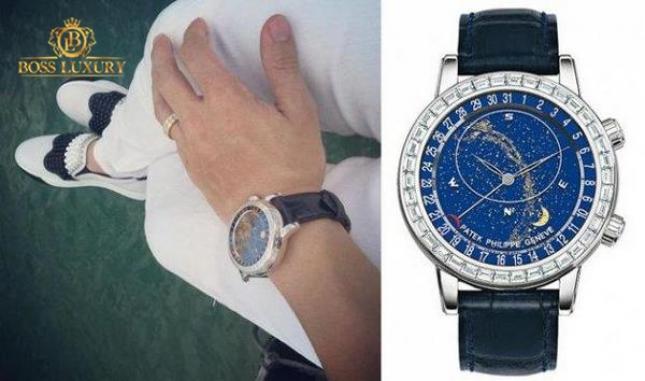 Choáng với đồng hồ Patek Philippe Geneve Swiss Sky Chart 6103G đại gia Minh Nhựa sở hữu