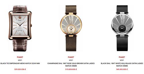 Giá của đồng hồ Piaget chính hãng trong khoảng từ 10.000-50.000 USD (200 triệu – 1 tỷ)