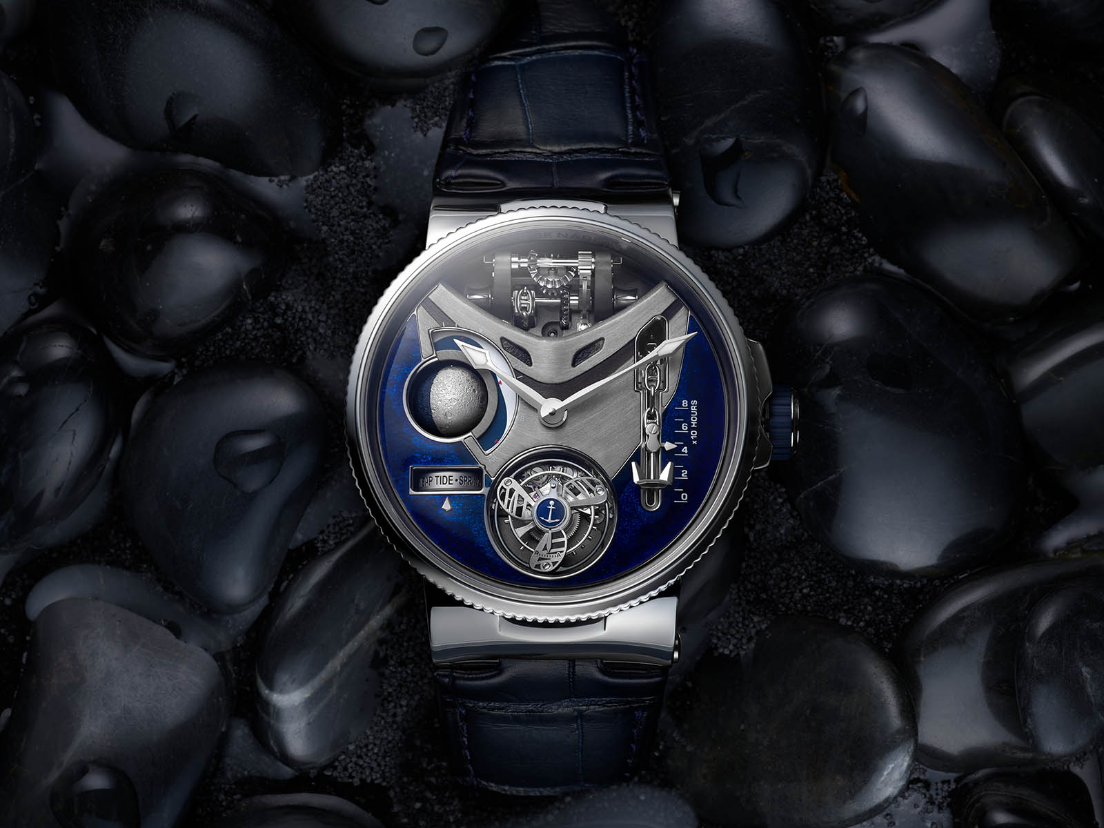 Hãng Ulysse Nardin giới thiệu bộ đôi đồng hồ lộ cơ Tourbillon mang chủ đề Đại dương phóng khoáng