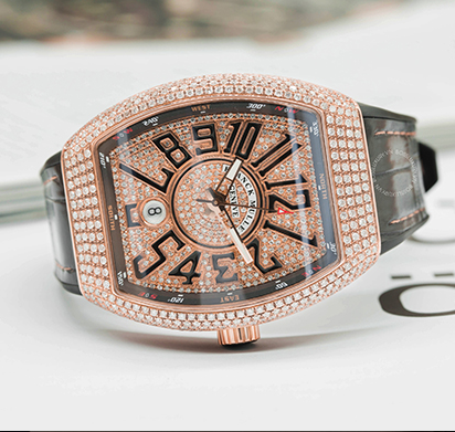 Review Franck Muller V41 Rose Gold Full Diamonds